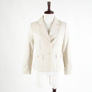 TALBOTS Petites – Khaki Cotton Blazer Jacket – 10